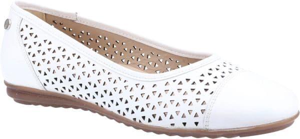 Hush Puppies Leah Slip On Ladies Shoes White